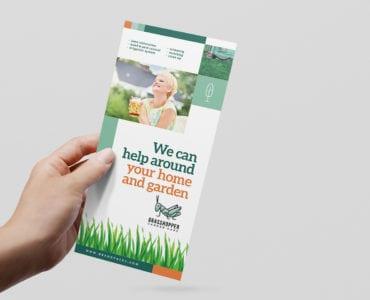 Gardener DL Rack Card Template