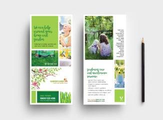 Gardening Service DL Rack Card Template