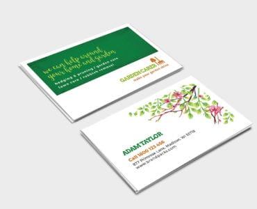 Gardening Service Business Card Template