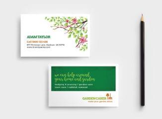 Gardening Service Business Card Template