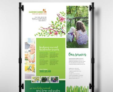 Gardening Service Poster Template