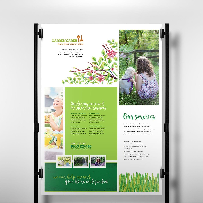 Gardening Service Poster Template