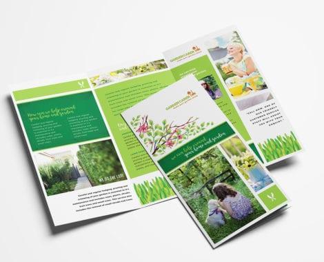 Gardening Service Tri-Fold Brochure Template