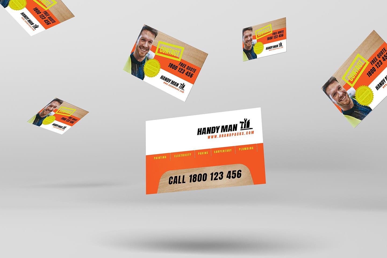 Handyman Business Card Template v2 in PSD, Ai & Vector ...