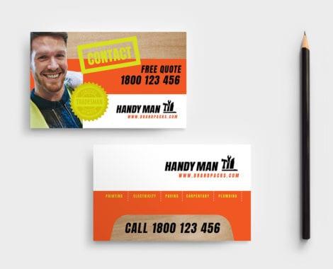 Handyman Business Card Template in PSD, Ai & Vector