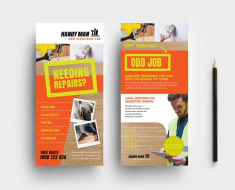 Handyman DL Rack Card Template