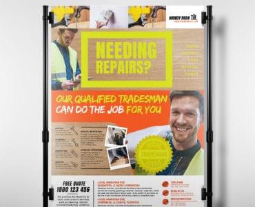 A3 Handyman Poster Template