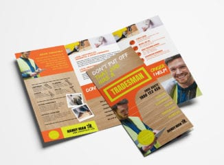 Handyman Tri-Fold Brochure Template