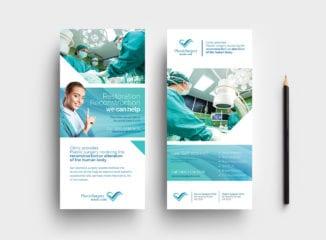 Hospital DL Rack Card Template