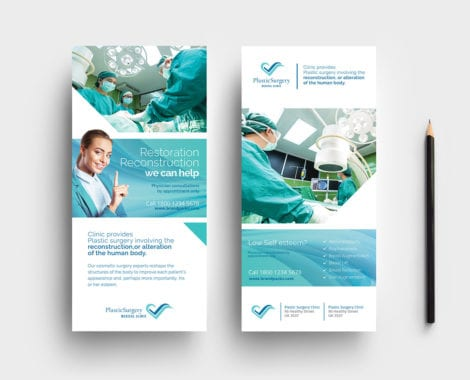 Hospital DL Rack Card Template