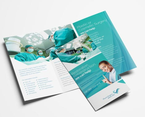 Hospital Tri-Fold Brochure Template