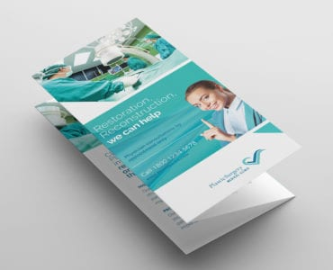 Hospital Tri-Fold Brochure Template Front