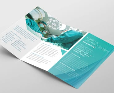 Hospital Tri-Fold Brochure Template Inside