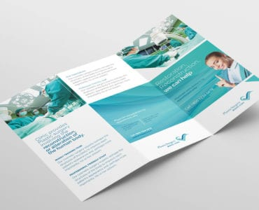 Hospital Tri-Fold Brochure Template Outside