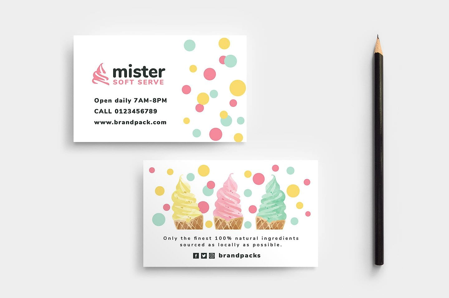 Ice Cream Shop Business Card Template