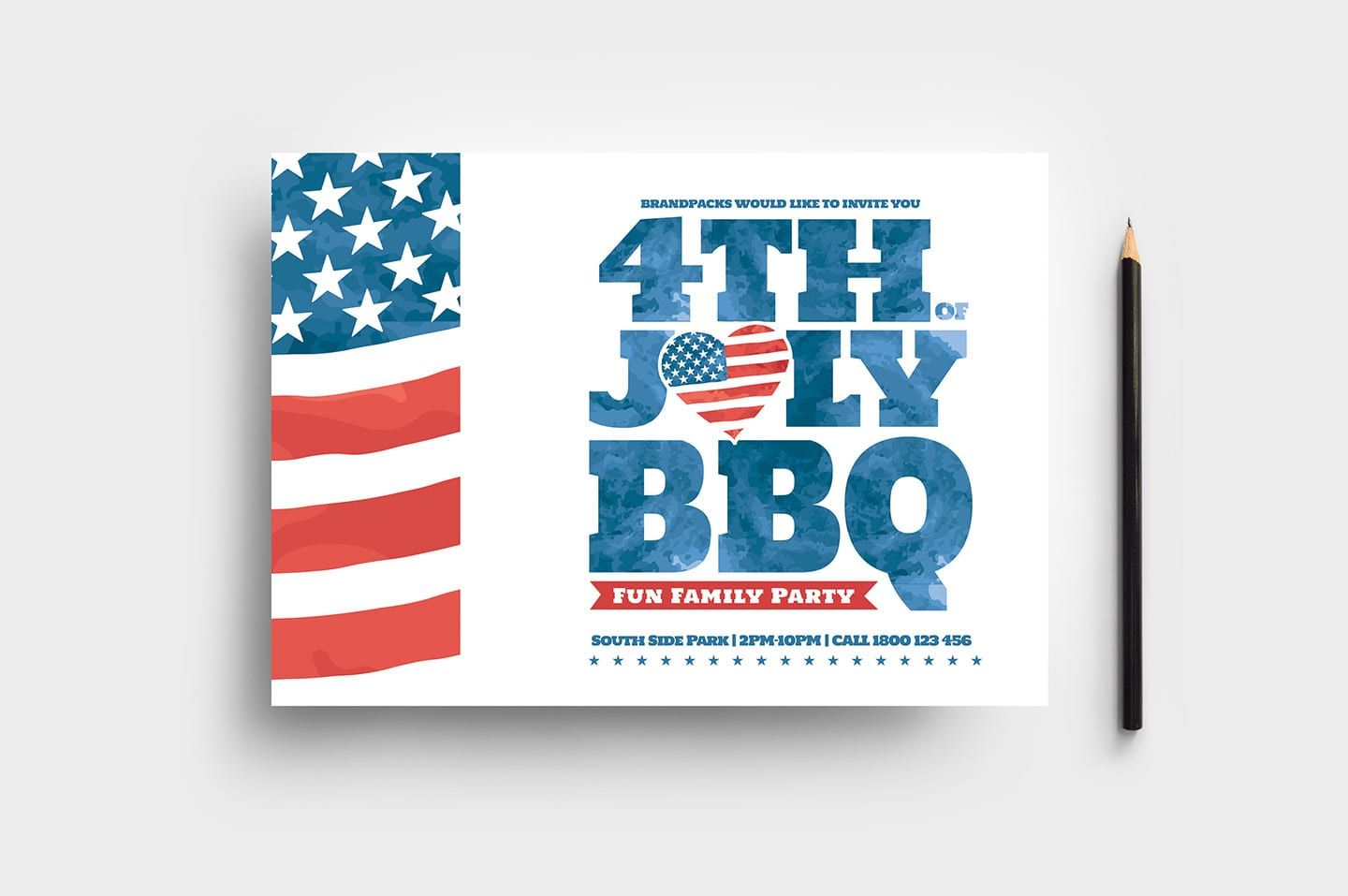 4th of july flyer template in psd  ai  u0026 vector