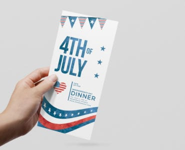 July 4th DL Rack Card Template