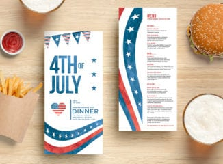 July 4th DL Rack Card Templates