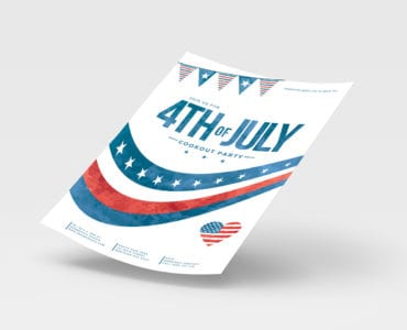 July 4th Poster Template