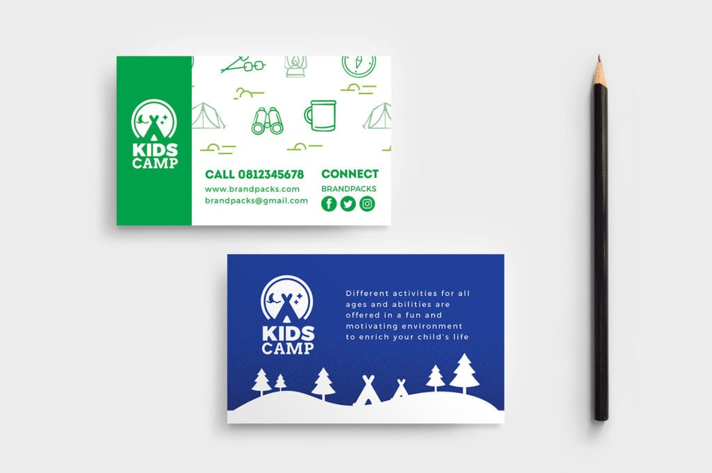 Kid's Camp Business Card Template