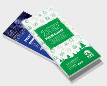 Kid's Camp DL Rack Card Template