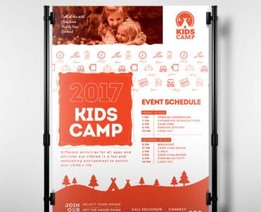Kid's Camp Poster Template