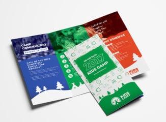 Kid's Camp Tri-Fold Brochure Template