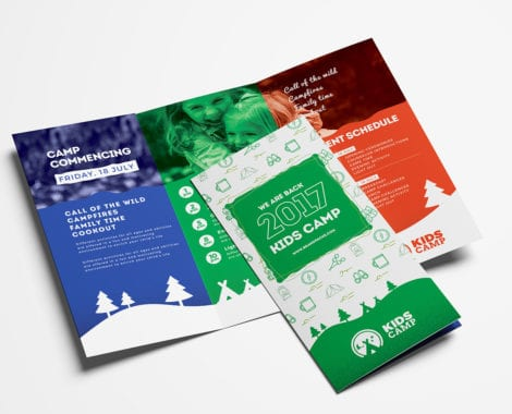 Kid's Camp Tri-Fold Brochure Template