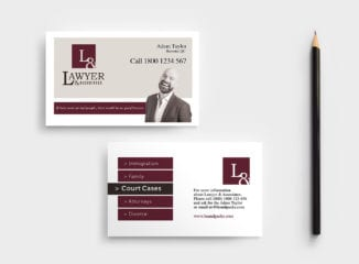 Law Firm Business Card Template