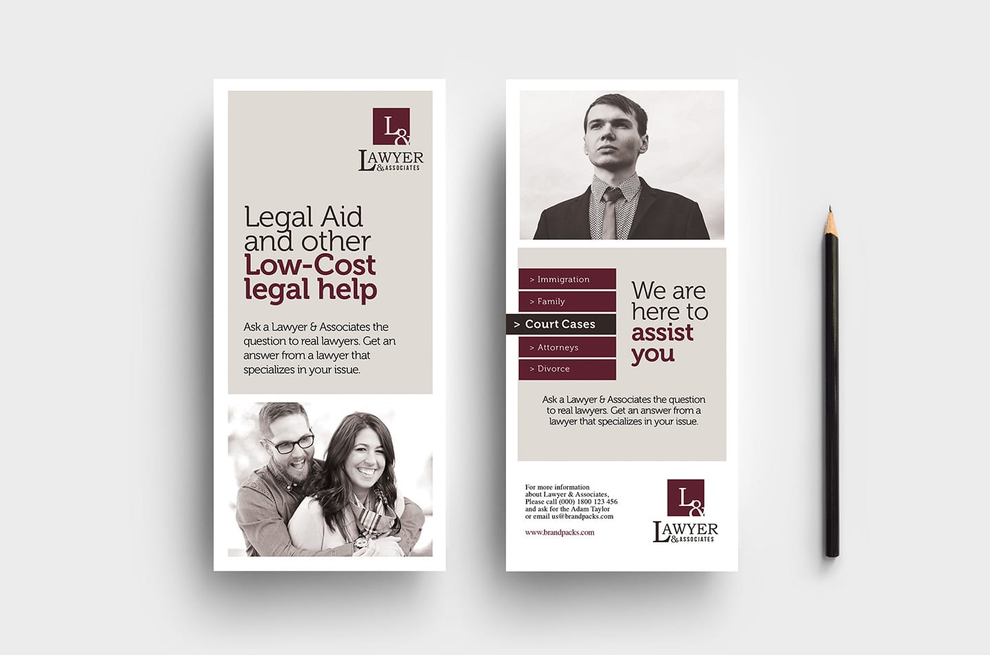 Law Firm DL Rack Card Template