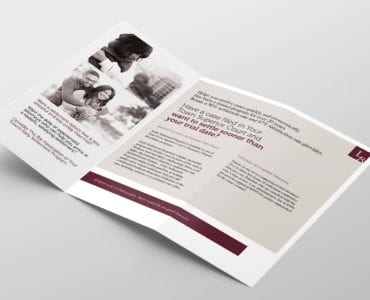 Law Firm Tri-Fold Brochure Template