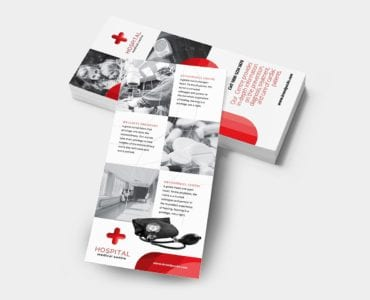 Medical DL Rack Card Template