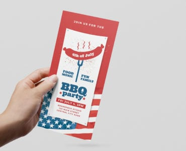 Modern 4th July DL Rack Card Template