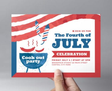 Modern 4th July Flyer Template