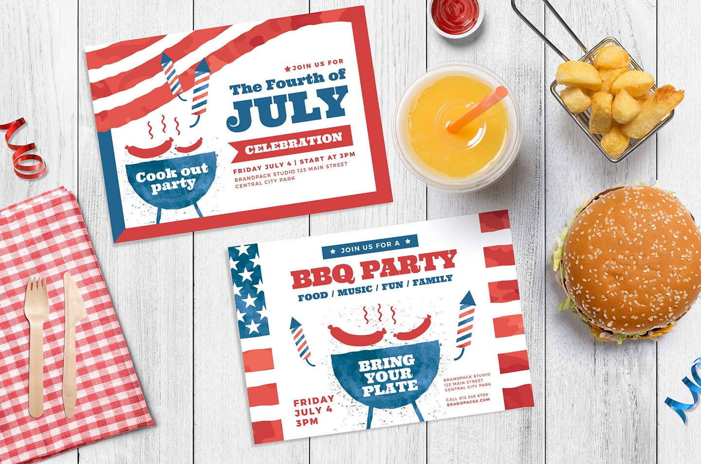 Modern 4th July Flyer Templates