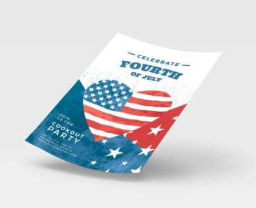 Modern 4th July Poster Template