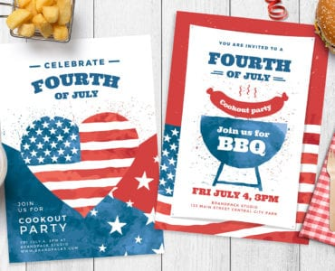 Modern 4th July Poster Templates