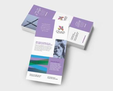 Modern Church DL Rack Card Template