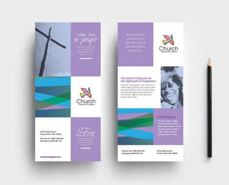 Modern Church DL Rack Card Template