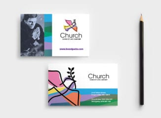 Modern Church Business Card Template