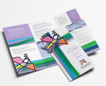 Modern Church Tri-Fold Brochure Template