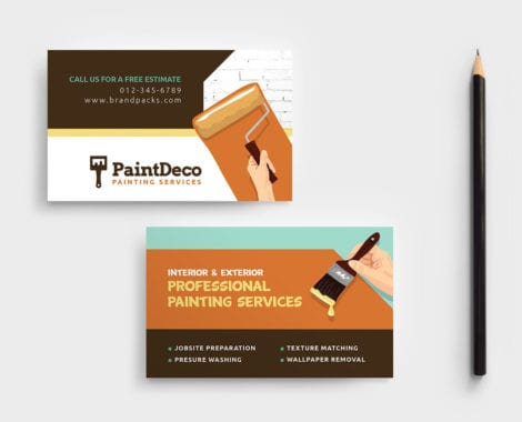 Painter & Decorator Business Card Template