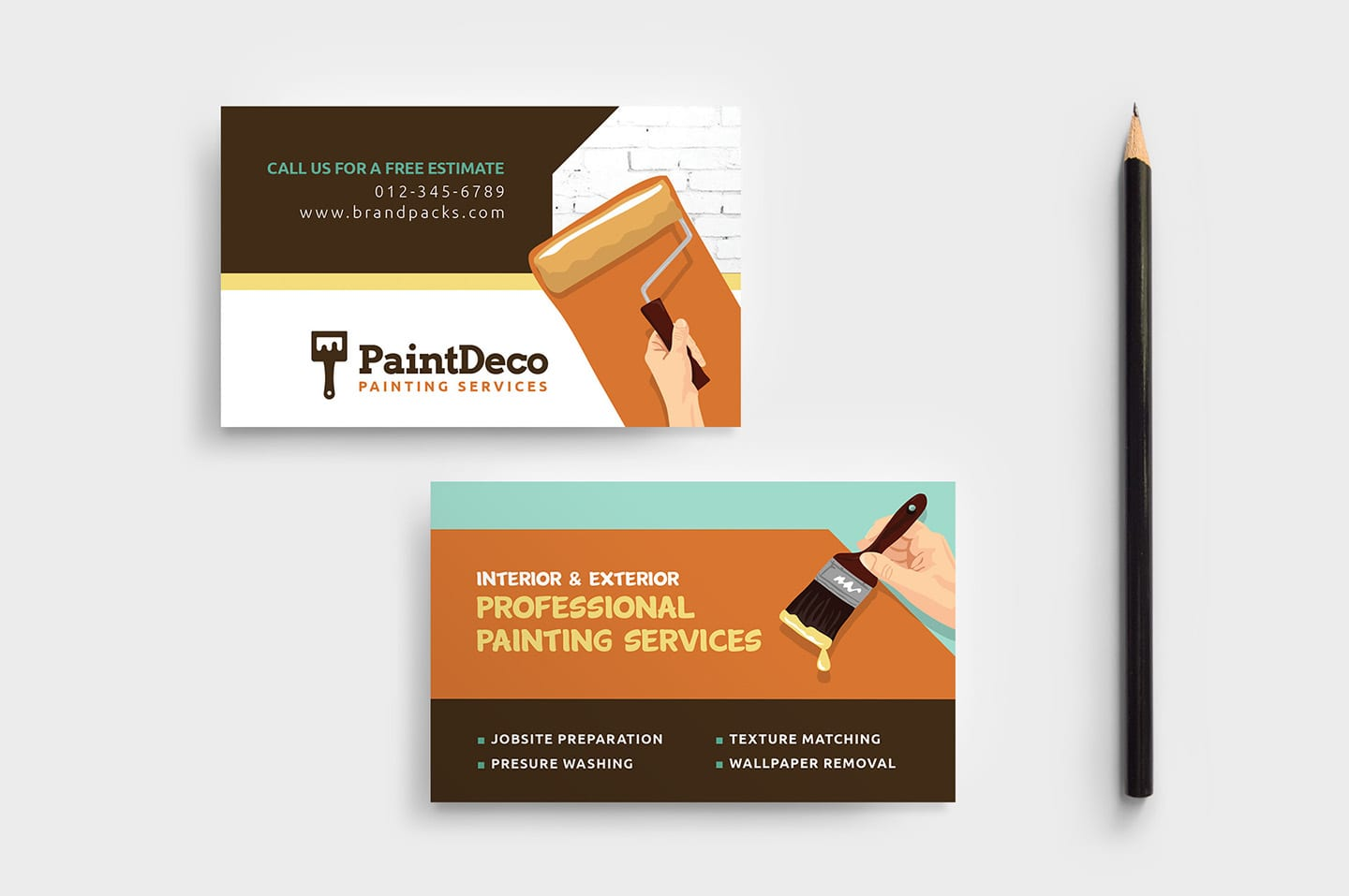 Painter & Decorator Business Card Template