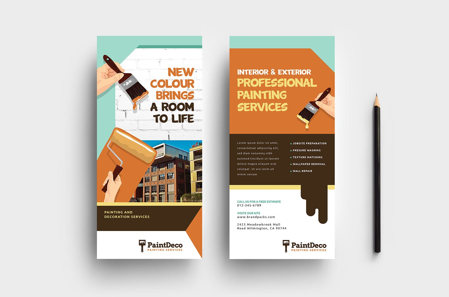 Painter & Decorator DL Rack Card Template
