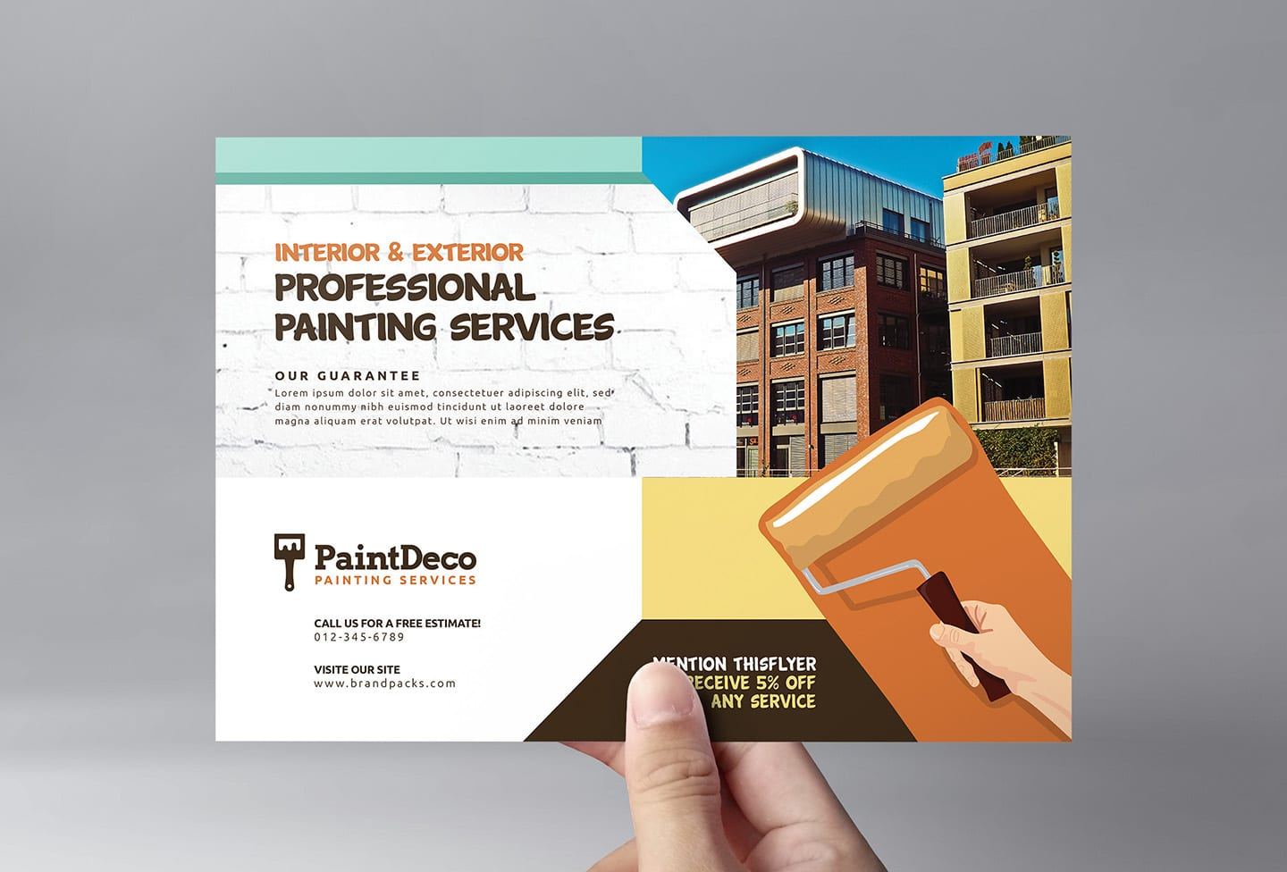 Painter & Decorator Flyer Template in PSD, Ai & Vector ...