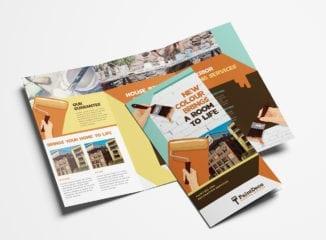 Painter & Decorator Tri-Fold Brochure Template