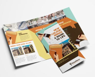 Painter & Decorator Tri-Fold Brochure Template