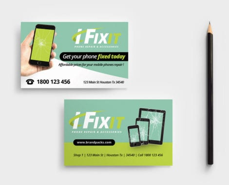 Phone Repair Shop Business Card Template