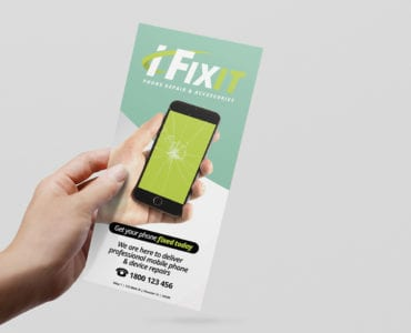 Phone Repair Shop DL Rack Card Template