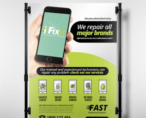 Phone Repair Shop Poster Template